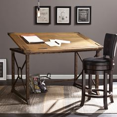 Features:  -Adjustable tabletop tilts up to 30 degrees for ergonomic comfort at any task.  -Broad work surface with full-length pencil ridge.  -Easily converts to writing table.  -Anti-slip hinge usin