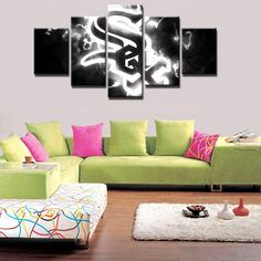 Godfather 5 pcs gangster Movie Painting Print Canvas Wall Art Poster Home Decor Canvas Artwork, Canvas Frame, Canvas Wall Art, Wall Art Prints, Canvas Prints, Painting Canvas, Painting Frames, Poster Home, Baseball Canvas
