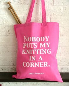 Knitting project bag  by:-Kelly Connor Designs