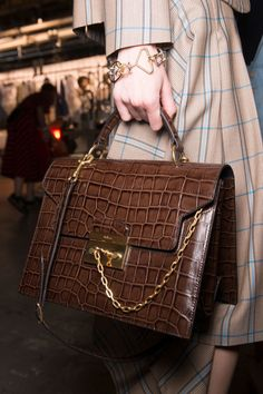 Mulberry at London Fashion Week Spring 2017 - Backstage Runway Photos Brown Shades, Photos Du, Hermes Kelly, Shoulder Bag, Ainsi, London Fashion, Spring, Backstage, Runway