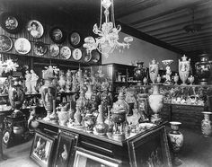 Tiffany & Co's Union Square storage area with porcelain, circa 1887 Garden Suite Hotel, Grand Hyatt San Francisco, Times Square Hotels, Rosewood Hotel, New York Hotels, Today In History, Union Square, Picture Outfits, Gilded Age