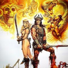 Between the time when the oceans drank Atlantis and the rise of the sons of Aryas, there was an age undreamed. #conan #arnold #conanthebarbarian #movie #art #arnoldschwarzenegger #poster #barbarian #johnmilius #milius #robertehoward #sandahlbergman