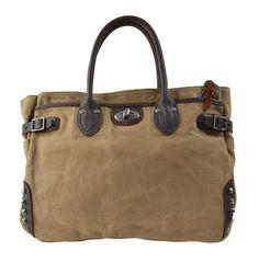 Canvas Borchie Beżowy Tote Bag, Bags, Fashion, Handbags, Moda, Dime Bags, Totes, Fasion, Hand Bags