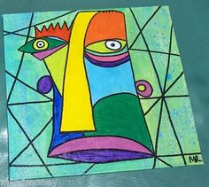 outsider art,  abstract face