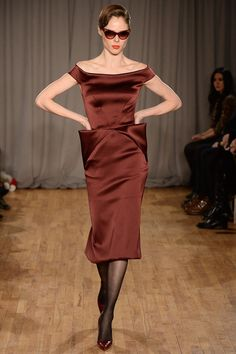 Zac Posen Fall 2014 - Vintage-inspired pieces tend to age very well; particularly silhouettes from the 1930s - 1950s; they're also flattering on many figures. This one is no exception.