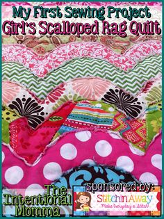 DIY girl toddler baby blanket fabric Etsy first sewing project quilting Intentional Momma polka dot chevron paisley pink green brown