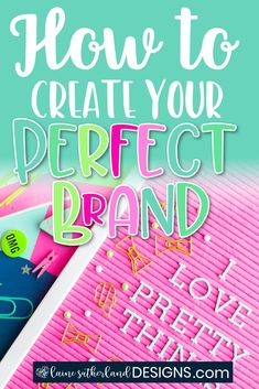 Learn how to create your perfect brand - one that inspires trust in your audience or buyers. Branding Your Business, Blog Page, Create A Logo, Your Perfect, Site Design, Brand You, Create Yourself, Trust, Teacher