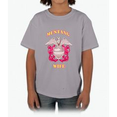 Pink Mustang Wife 2 Young T-Shirt