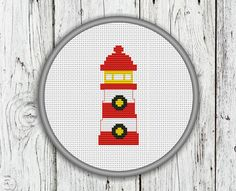 Lighthouse Counted Cross Stitch Pattern DIY  by CrossStitchShop