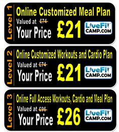 LiveFit Customized Meal Plan and Personal Training Designed Just For You!