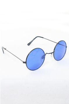 Blue Round Lennon Sunglasses