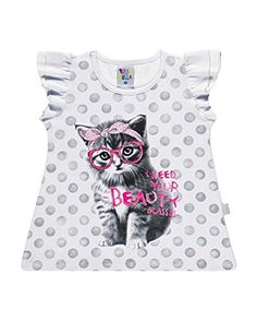 Pulla Bulla Toddler girl graphic tshirt ages 2 year  White ** More info could be found at the image url.
