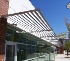 Aluminium Architectural Airfoil Sun Louvers As Awning DX AF200