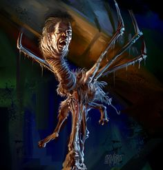 13 Nights 2011 The Thing by *Grimbro on deviantART. Just watched this movie last night with my 16 yr old son. Scared him pretty good! The Thing 1982, Creepy, Scary, Horror Artwork, Images Wallpaper, Wallpapers, Arte Horror, Movie Poster Art, Iconic Movies