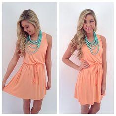 Gorgeous apricot-hued dress