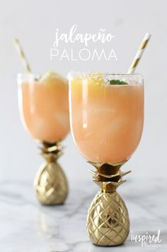 Jalapeño Paloma - a spicy take on Mexico's most beloved cocktail - it's Cinco de Mayo on inspiredbychmarm.com