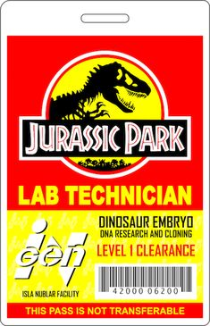 This got more notes than expected so if anyone wants to make their own here's the printable template I made. Jurassic Park Costume, Jurassic Park Party, Jurassic Park Logo, Jurassic Park World, Legos, Birthday Party At Park, Lego Birthday, Third Birthday, Dinosaur Posters
