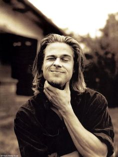 Brad Pitt....only man alive who looks good with long hair