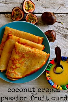 Coconut Crepes with Passion Fruit Curd #coconut #crepes #passionfruit #curd #passionfruitcurd #lemoncurd #creperecipes #curdrecipes #easyrecipes #passionfruitrecipes_#howtomakecrepes #brunchrecipes #breakfastrecipes #romanticrecipes #kaluhiskitchen #africanfood #africanrecipes #kenyanfood