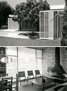 Mid-century Modern, Modern Design, Barcelona, Arch House, Interior And Exterior, Interior Design, Inside Outside, Building Exterior, Modern Architecture