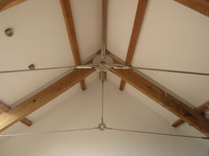 Sta-Lok Stainless Steel Tie Rods were use to modernize the oak timber supports. Steel Trusses, Steel Columns, Roof Trusses, Roof Truss Design, Interior Design Career, Timber Roof, Barn Renovation, Ceiling Beams, Vaulted Ceilings