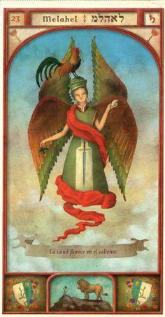 (23) MELAHEL (Kabbalistic angel) protects those born 12 - 16 July, to travel safely and have good health. (ángel Cabalístico) protege aquellos nacidos 12 - 16 julio, para viajar a salvo y tener buena salud.