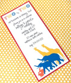 Noah's Ark Invitation Animals Birthday Giraffe Elephant Rabbit Baby Shower