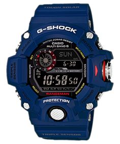 G-Shock Master of G Rangeman / G-Shock Blue Extreme Outdoor Watch for men Casio G Shock Watches, Sport Watches, Cool Watches, Watches For Men, Wrist Watches, Men's Watches, Casual Watches, Casio G-shock, Casio Watch