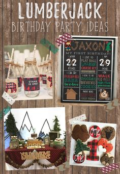 Lumberjack Birthday Party Ideas Lumberjack Themed Party Lumberjack First Birthday First Birthday Ideas for Boys Fall Birthdays Lumberjack Party