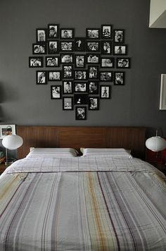 Great idea for newlyweds bedroom on a budget! Ikea frames sprayed every color you . Great idea for newlyweds bedroom on a budget! Ikea frames sprayed every color you please and candid snapshots! , Great idea for newlyweds bedroom on a. Newlywed Bedroom, Sweet Home, Ikea Frames, Ideas Para Organizar, Diy Casa, Home And Deco, My Room, Spare Room, Home Projects
