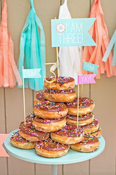 Mint & Peach Donut Party {Go Nuts More
