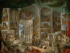 Bildergalerie des antiken Rom, Gemälde von Giovanni Paolo Pannini, 1757