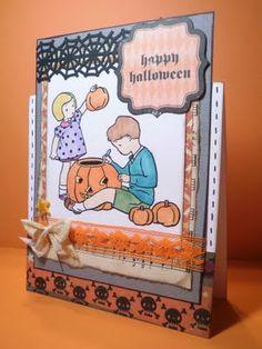 Happy Halloween card using a cute digi!