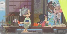 Oml I could totally see Marina and pearl going down to visit Marie and Callie on their breaks and just having a good time with them
