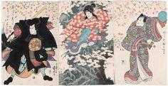 Kuniyoshi / Triptychon  Schauspieler