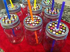 Hosting a Pinterest Party (mason jar glasses as gifts)