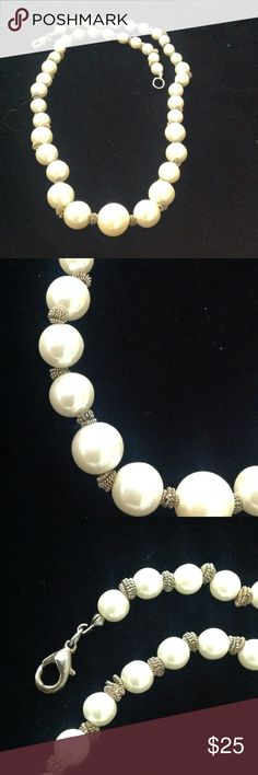 Faux pearls Faux pearls 20 in long Jewelry Necklaces