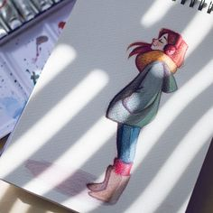 Sunday Morning by Misspingu on DeviantArt - Sunday Morning by Misspingu.deviant… on - Cool Art Drawings, Pencil Art Drawings, Art Drawings Sketches, Cartoon Drawings, Cartoon Kunst, Arte Sketchbook, Cartoon Art Styles, Character Drawing, Cute Art