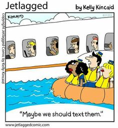Modern day airline passengers during an emergency....