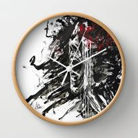 """Wall Clock """"The Pain of Cluster Headache"""" by Agnes-Cecile for Arte Cluster Project I Now on Sale, 20% OFF I Arte Cluster *Awareness through Art* I Thank you for your support !"""