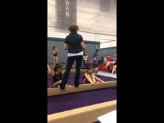 Beam drill- Learning to jump through toes - YouTube