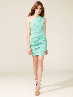 Draped One Shoulder Bandage Dress by Matthew Williamson at Gilt