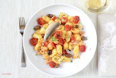 36.Gnocchi con gallinella di mare, pomodorini confit e olive taggiaschedi Giulia