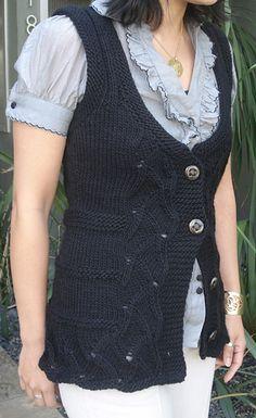 Free Knitting Pattern for Talia Vest