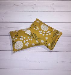 Floral Hand warmers - cold pack - pocket handwarmers - flax heat - mustard yellow microwavable gift for wife her Pocket Warmers, Hand Warmers, Gifts For Coworkers, Gifts For Wife, Beaded Lanyards, Gifts For Office, Id Badge Holders, Key Fobs, Mustard Yellow