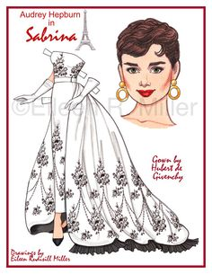 Beautifully designed and rendered paper doll printed on 8.5x11 card stock. Doll and 5 costumes on 3 sheets.