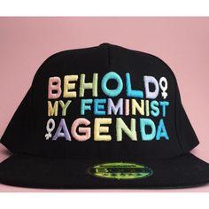 ae88c446328 Behold My Feminist Agenda Pastel Rainbow Snapback Cap Feminist Cap... ( 32)