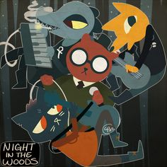 """cecis-artcorner: """"-* Night in the Woods Speedpaint *- Had no idea what to draw then I saw someone playing this game. I love the humor in it! CPaz """""""