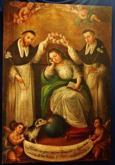 Saint Dominic de Guzmán and Blessed Manés de Guzmán Crowning their Mother, Blessed Jane of Aza
