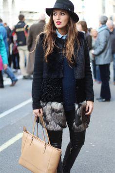 London Street Style - Fur Coat - Eli G - Maternity